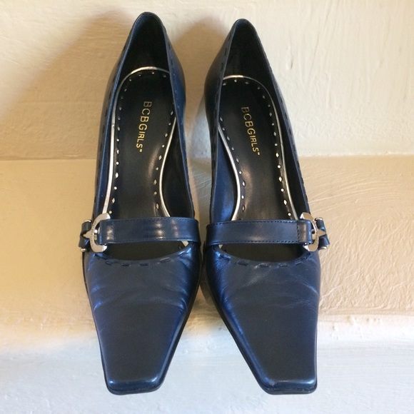 179ec02cce4 BCBGirls Shoes - BCBGirls Navy Blue Pointed Toe Pumps